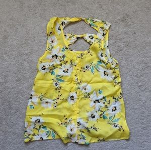 O'Neill Yellow floral tank